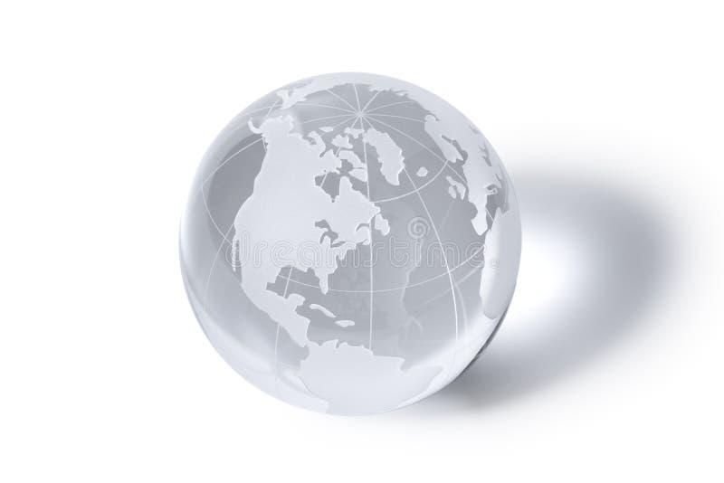 Globe. A crystal globe showing the world