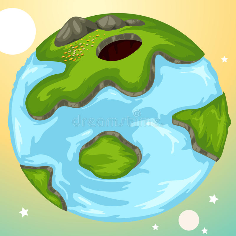 Download Globe stock vector. Image of drawing, green, land, climate - 22505168