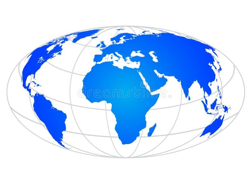 Globe. Illustration of globe design isolated on white background vector illustration