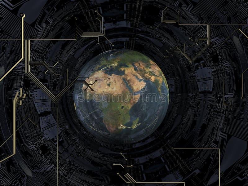 Download Globe stock illustration. Illustration of motherboard - 24026846
