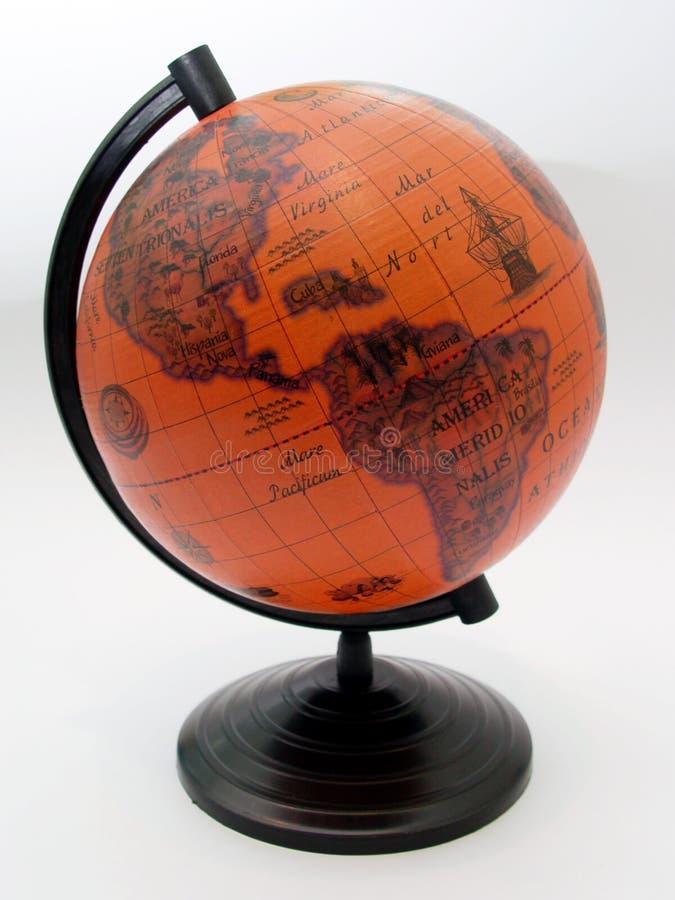 Globe. Orange globe royalty free stock images