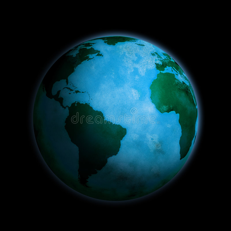 Download Globe stock illustration. Image of africa, dirty, ocean - 3382120
