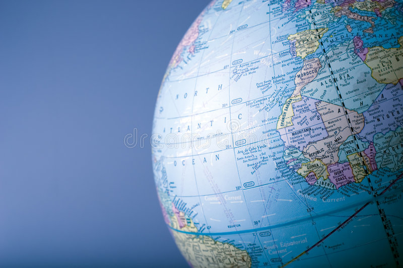 Globe 4. A section of a globe in horizontal format royalty free stock photo