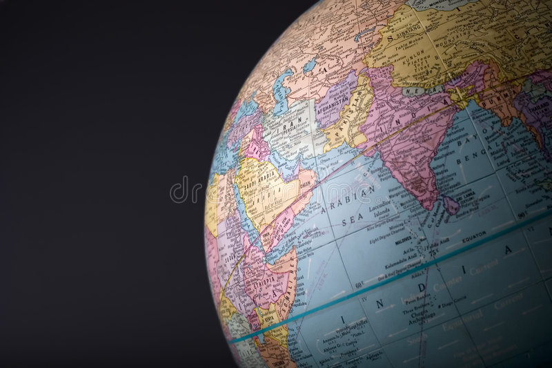 Globe 5. A section of a globe in horizontal format royalty free stock images