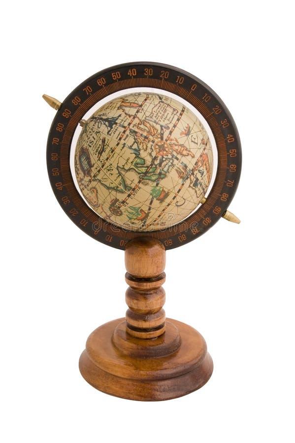 Globe. Old style world globe on white background stock image