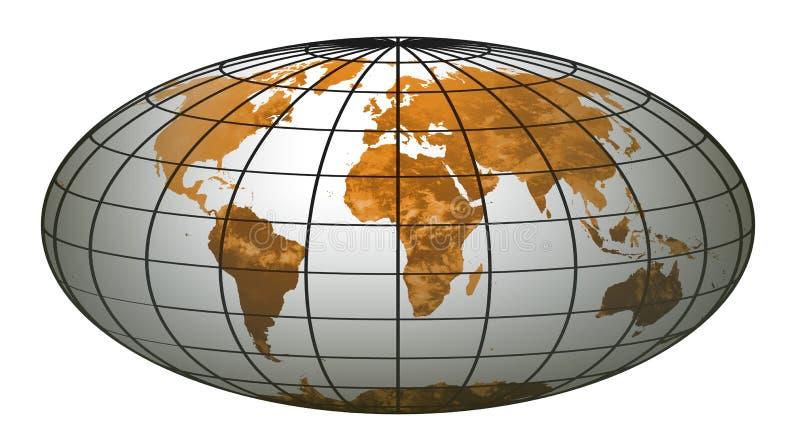Globe 6 du monde de piste illustration de vecteur