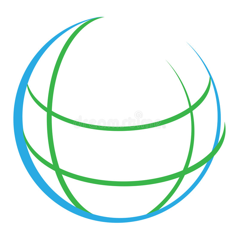 Globe. Computer generated Outline world globe logo