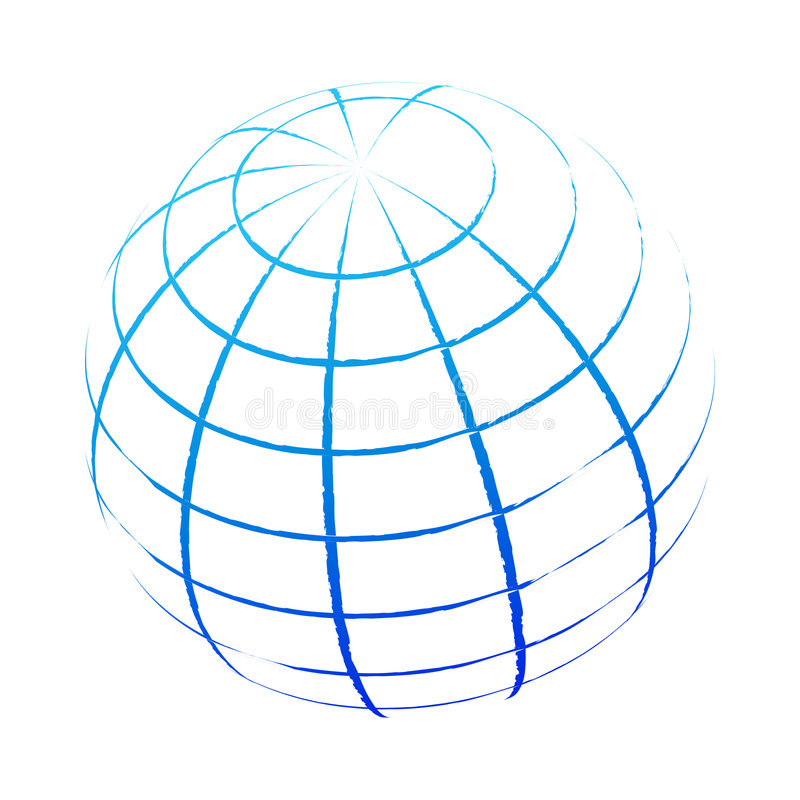Globe. Computer generated Outline world globe