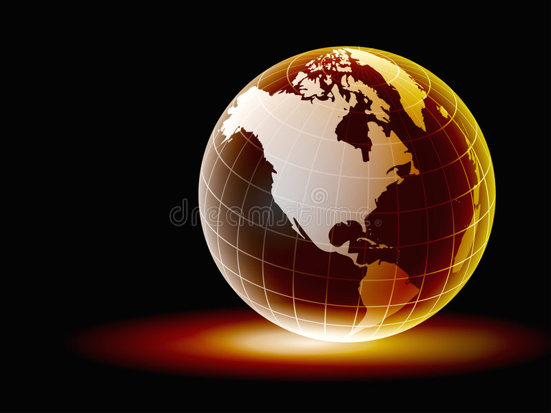 Globe. Digital globe with nice glossy effect