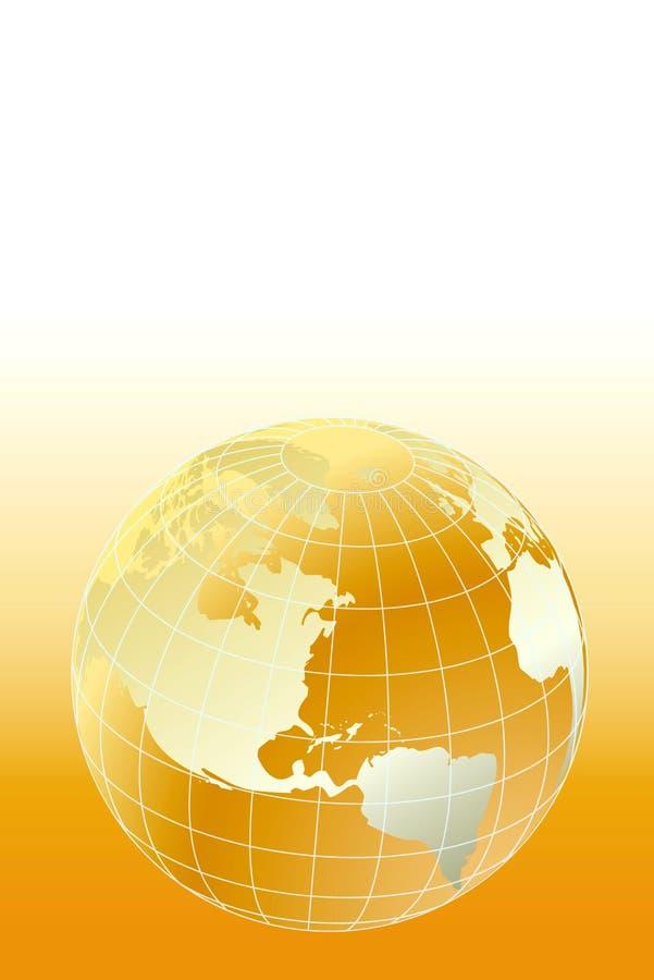 Download Globe stock vector. Image of golden, line, computer, europe - 7592677