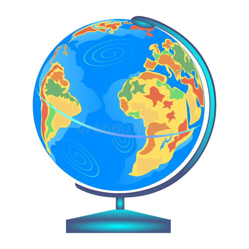 Globe illustration stock