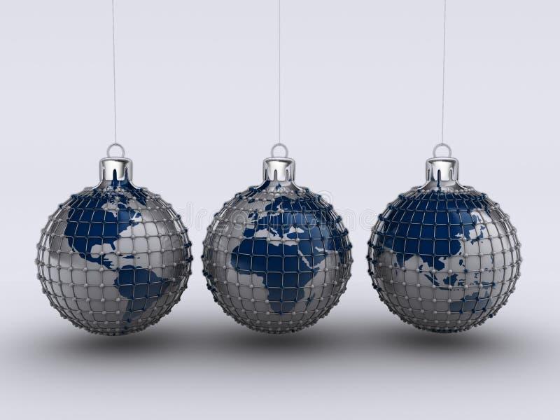 Globe 9 de Noël illustration de vecteur