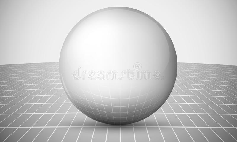 Globe on an abstract background vector illustration