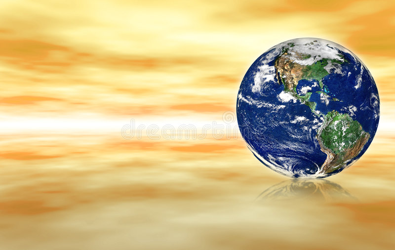 Globe in abstract space royalty free illustration