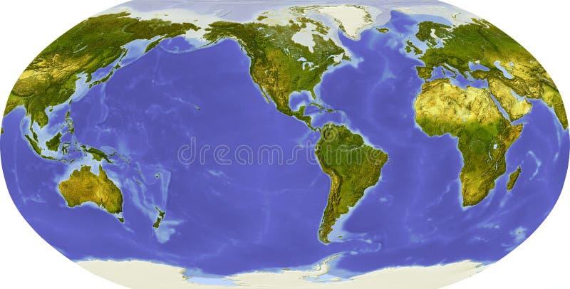 Globe, allégement ombragé, porté sur l'Amérique illustration stock