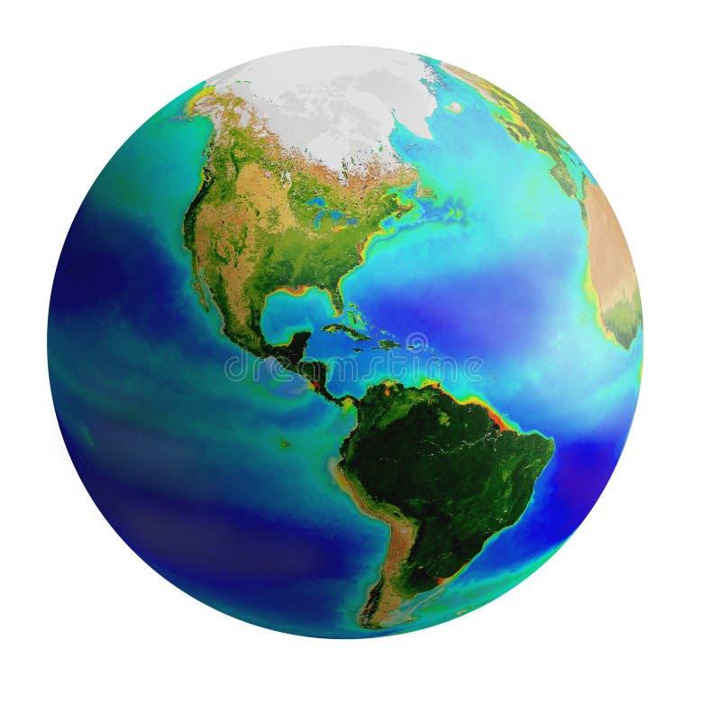 Globe, america royalty free illustration