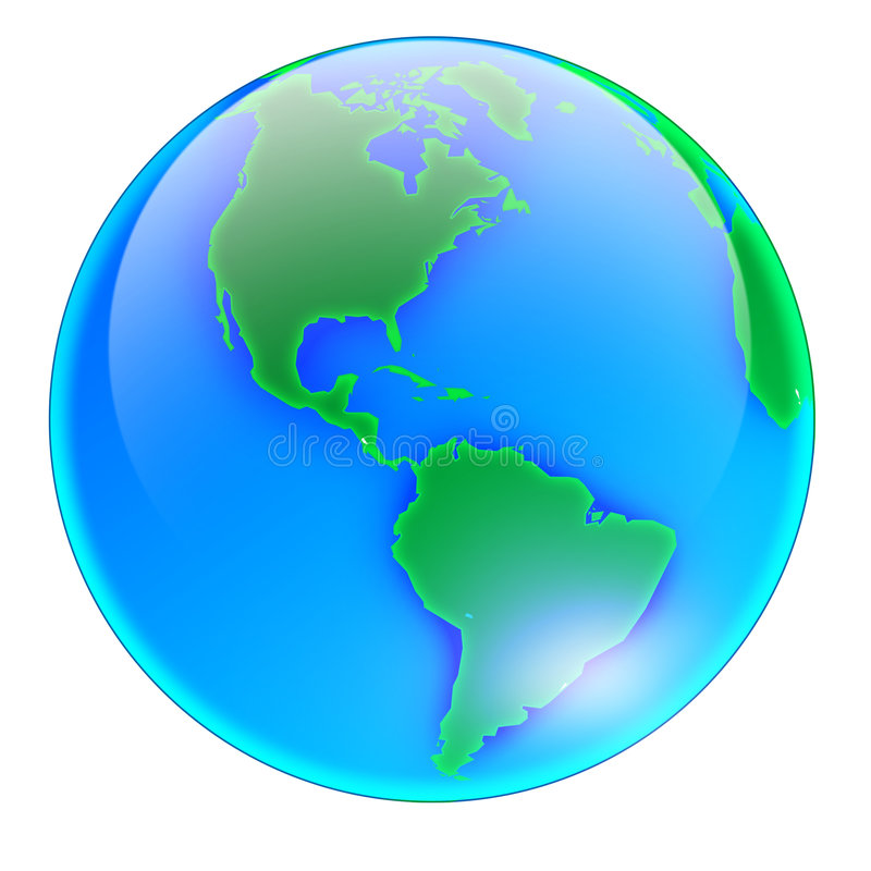Globe America - no shadow royalty free stock photos