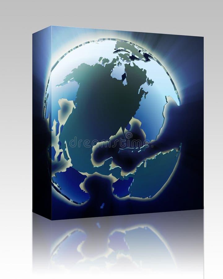 Download Globe Americas box package stock illustration. Illustration of glassy - 11835051