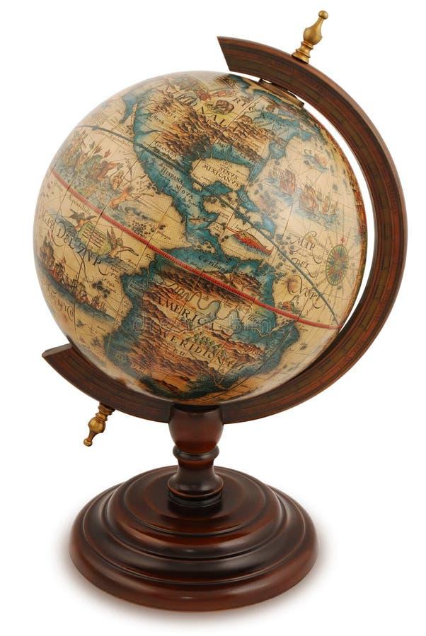 Globe antique photographie stock libre de droits