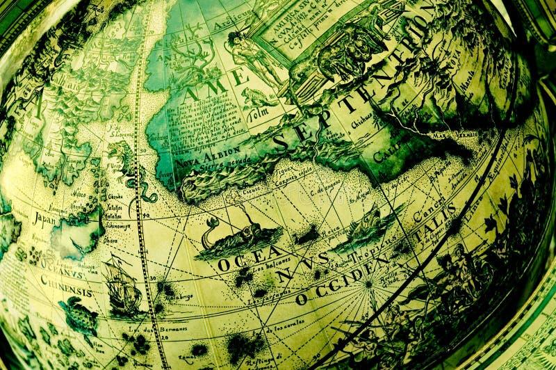 Globe antique - Amérique du Nord images libres de droits