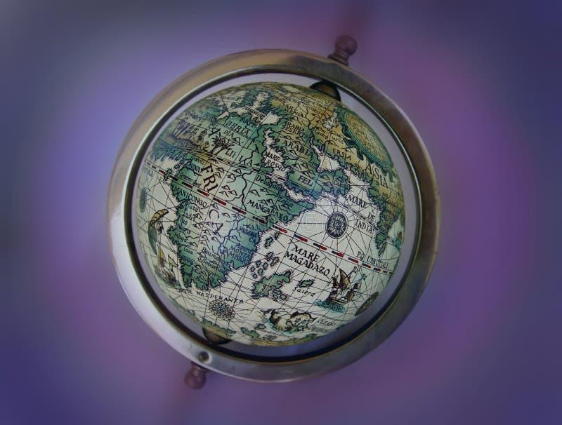 Globe antique de carte images libres de droits