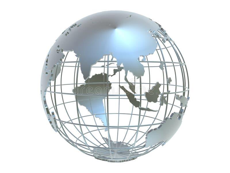 Globe argenté illustration de vecteur