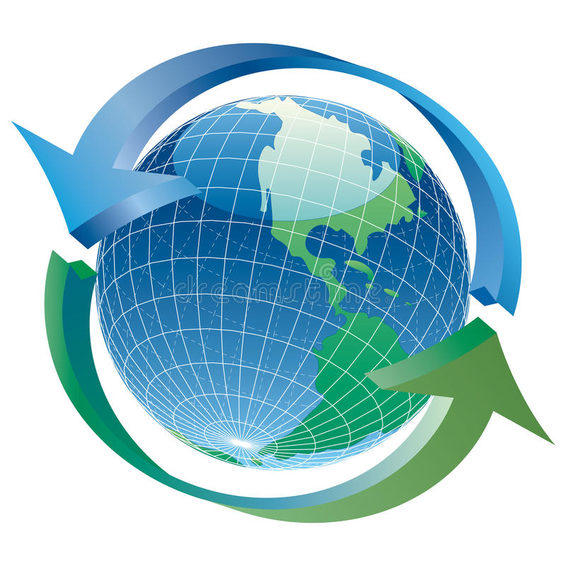Globe arrows