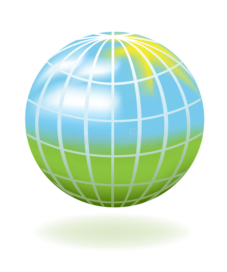 Download Globe as a landscape stock vector. Image of light, round - 8803152