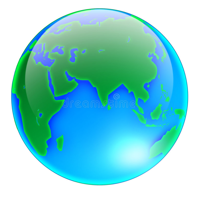 Globe Asia -no shadow royalty free stock photos