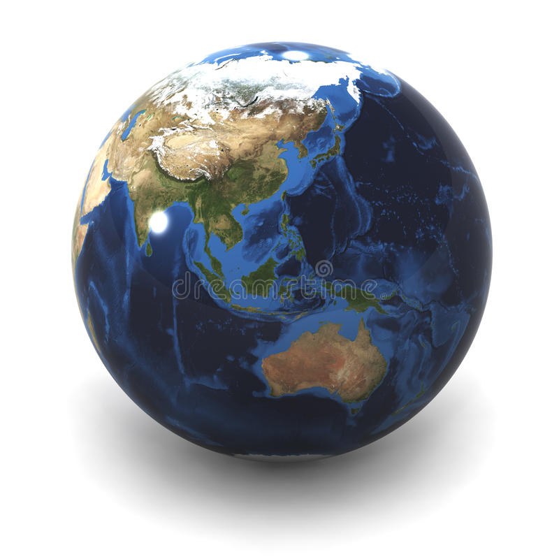 Download Globe Australia / Japan stock illustration. Image of isolated - 17009549