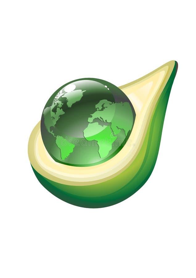Download Globe in avacado stock vector. Illustration of environmental - 8990589