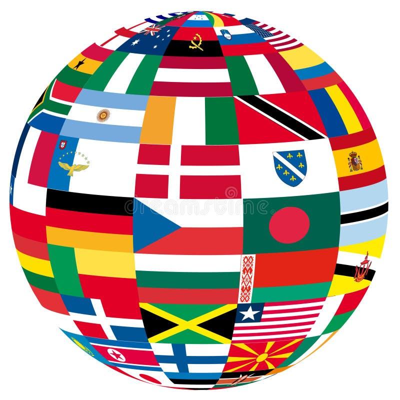 Globe avec des indicateurs illustration libre de droits