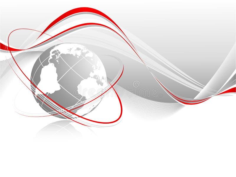 Globe avec des lignes illustration libre de droits