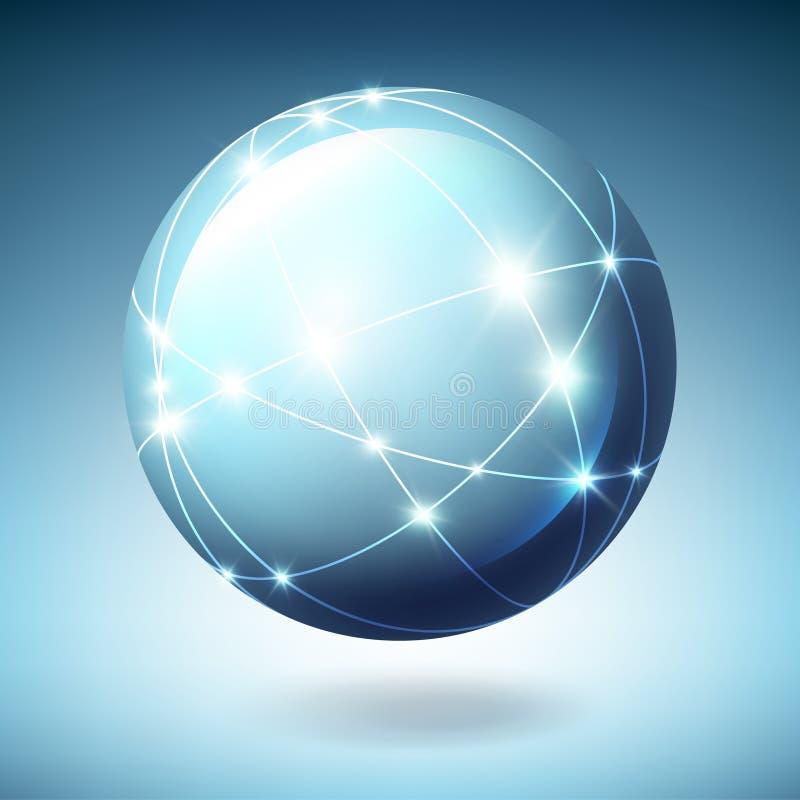 Globe avec des satellites illustration libre de droits