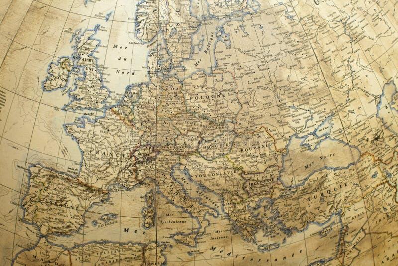 globe avec la carte de l'Europe photographie stock