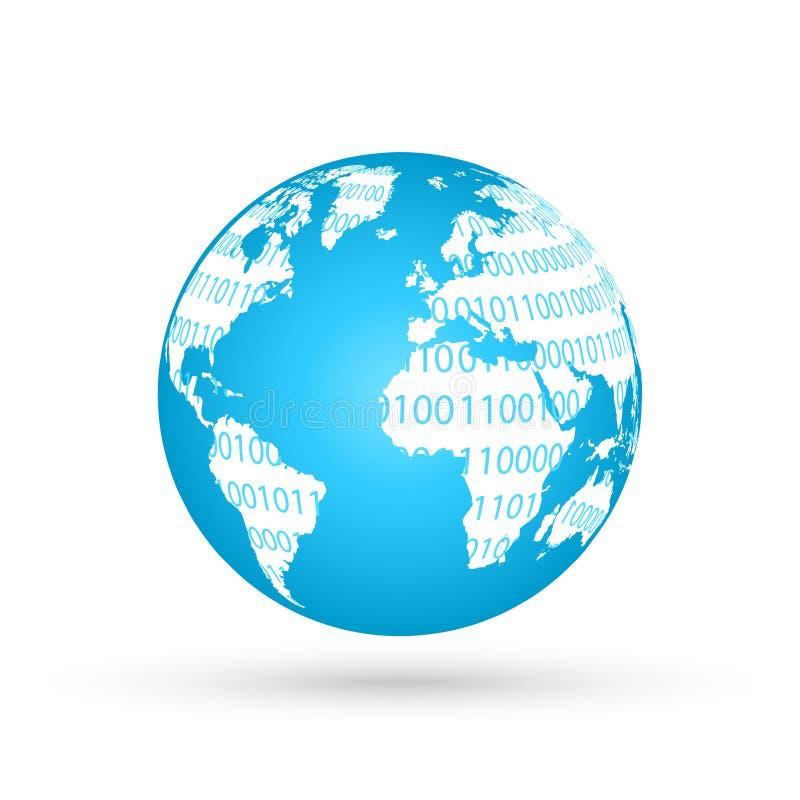 Globe avec le signe de WWW comme concept de World Wide Web illustration de vecteur