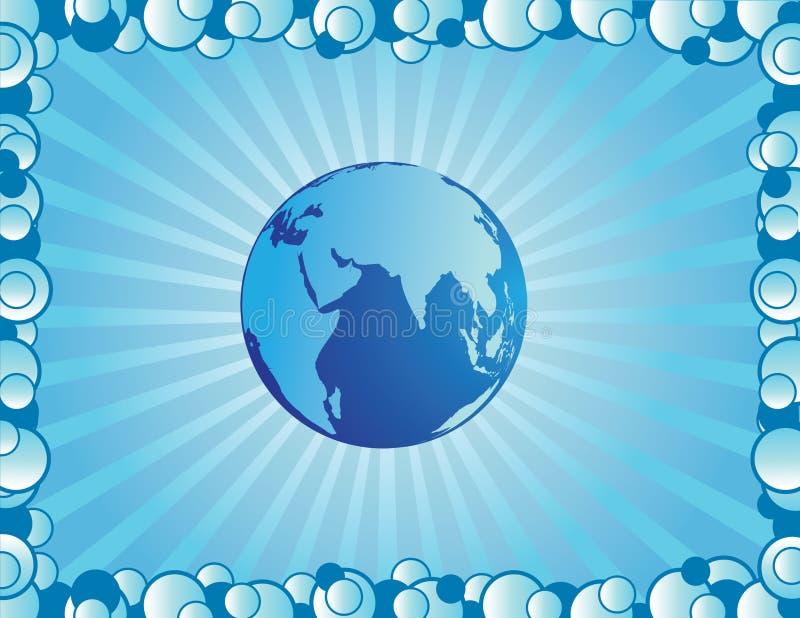 Globe background vector illustration