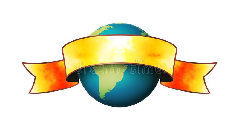 Globe Banner royalty free stock photo