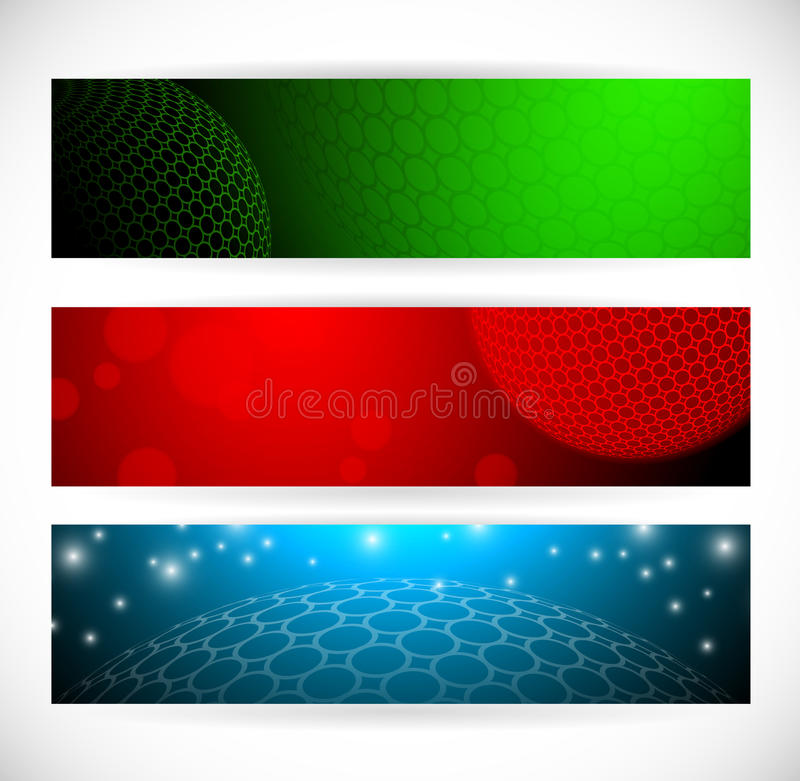 Globe Banners vector illustration