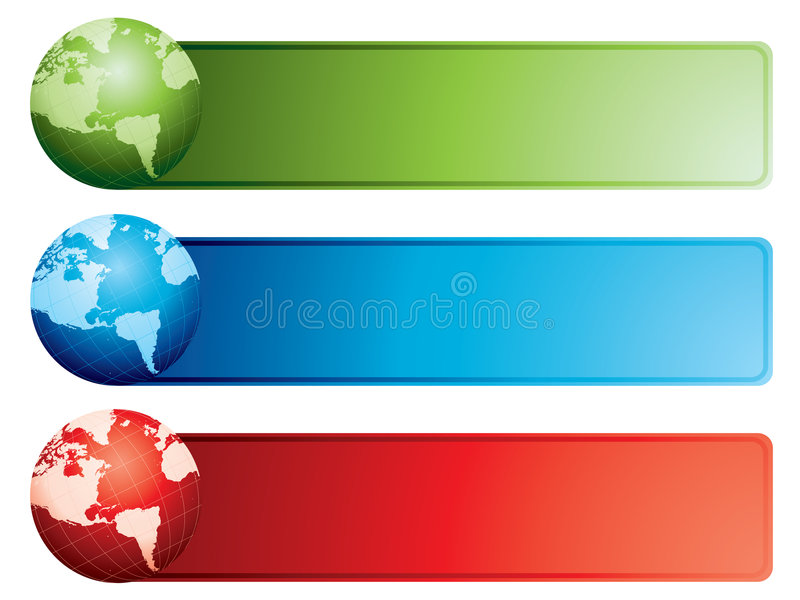 Download Globe Banners Royalty Free Stock Images - Image: 8441169