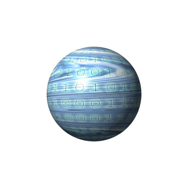Globe binaire illustration libre de droits