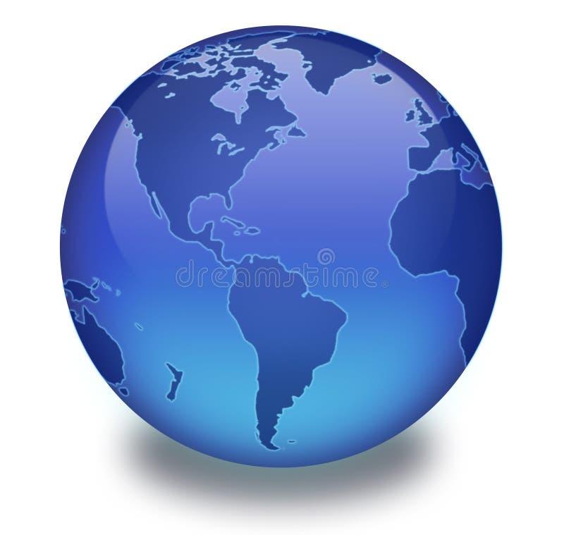 Globe binaire avec le fond blanc illustration stock