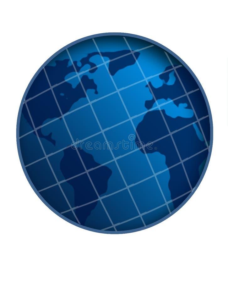Globe blanc du monde de rayure illustration de vecteur