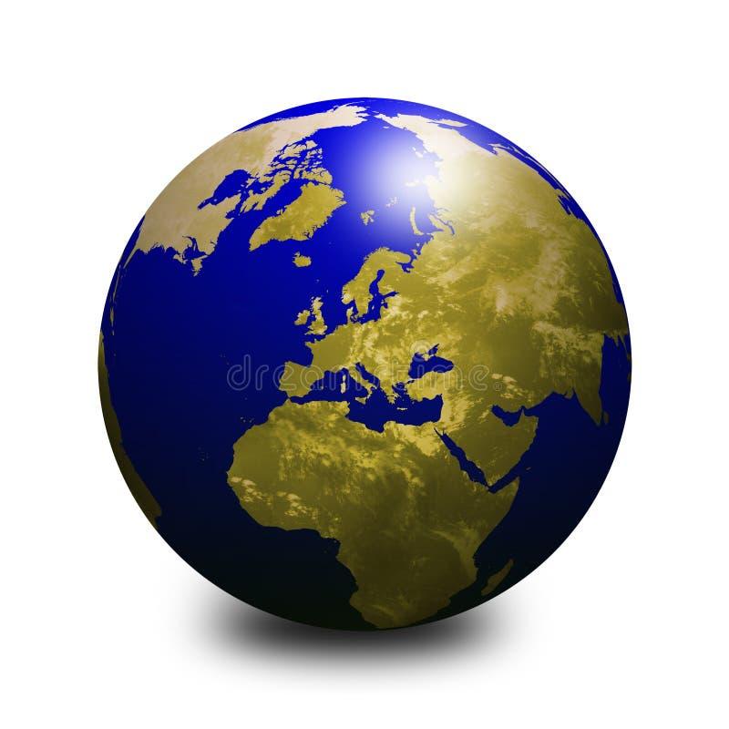 Globe bleu 2 du monde illustration stock