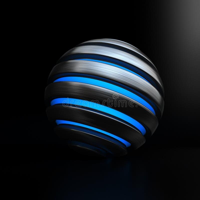 Globe bleu-clair illustration stock