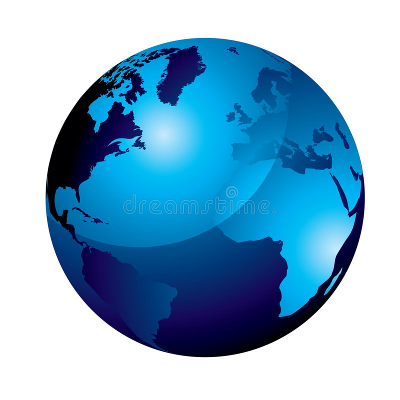 globe bleu de gel illustration libre de droits