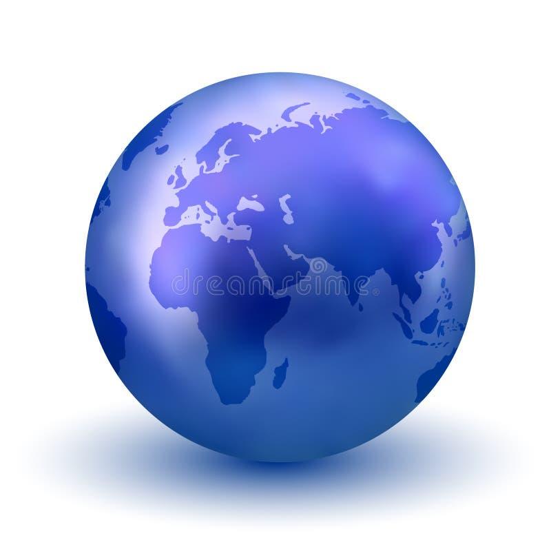 Globe bleu de la terre illustration de vecteur