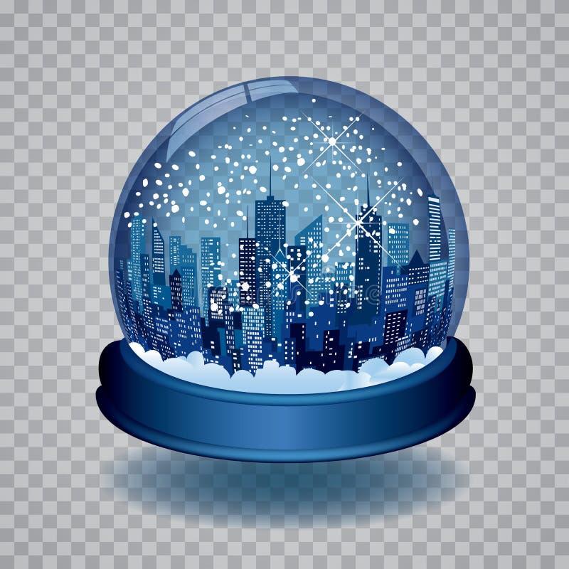 Globe bleu de neige illustration libre de droits