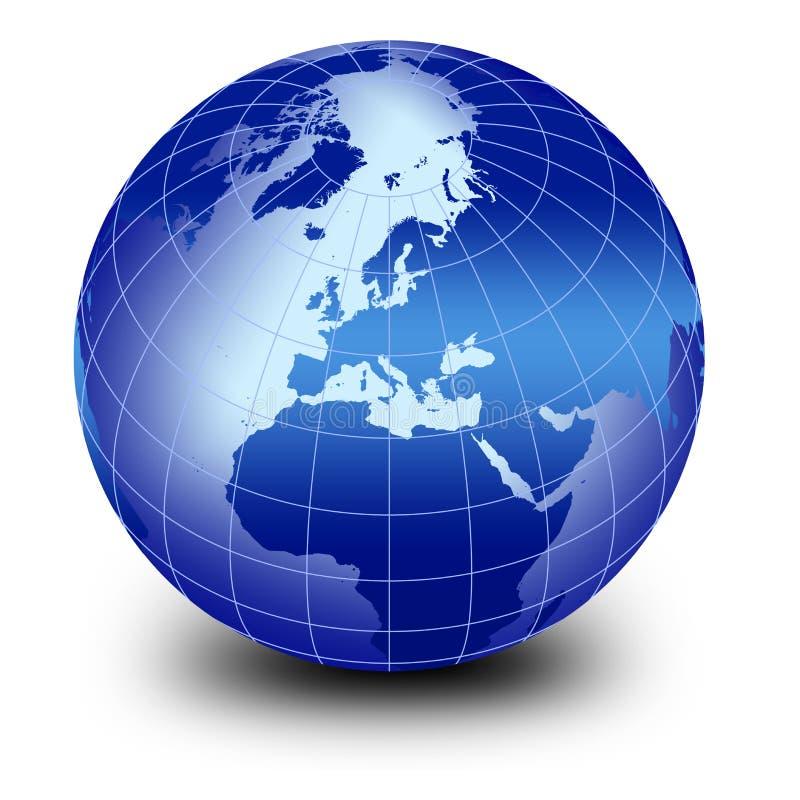 Globe bleu du monde illustration de vecteur