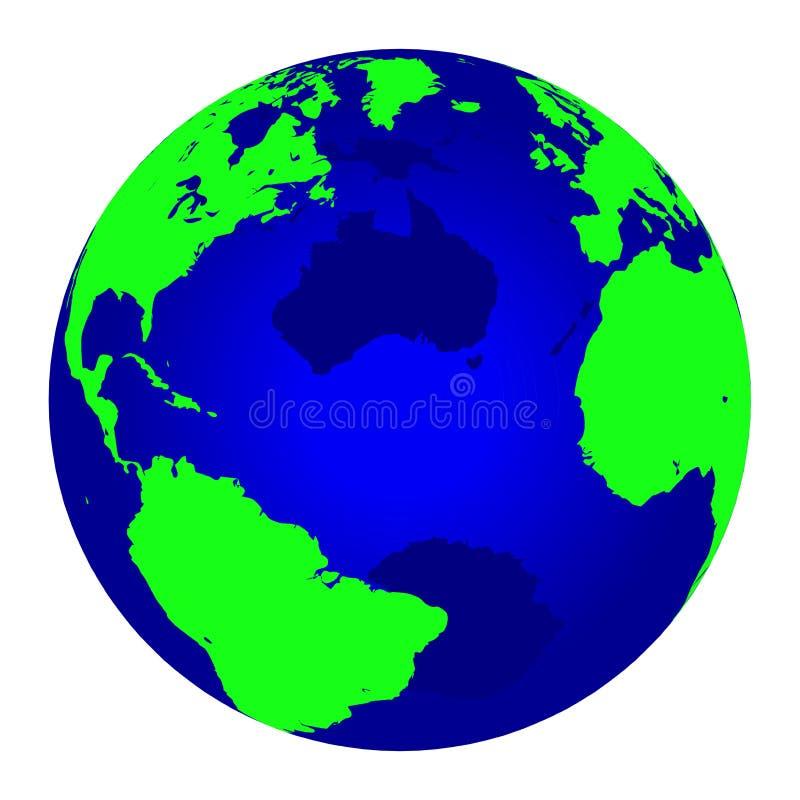 Globe bleu du monde illustration libre de droits